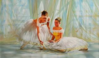 Delicadas Tiernas Bailarinas Pintadas