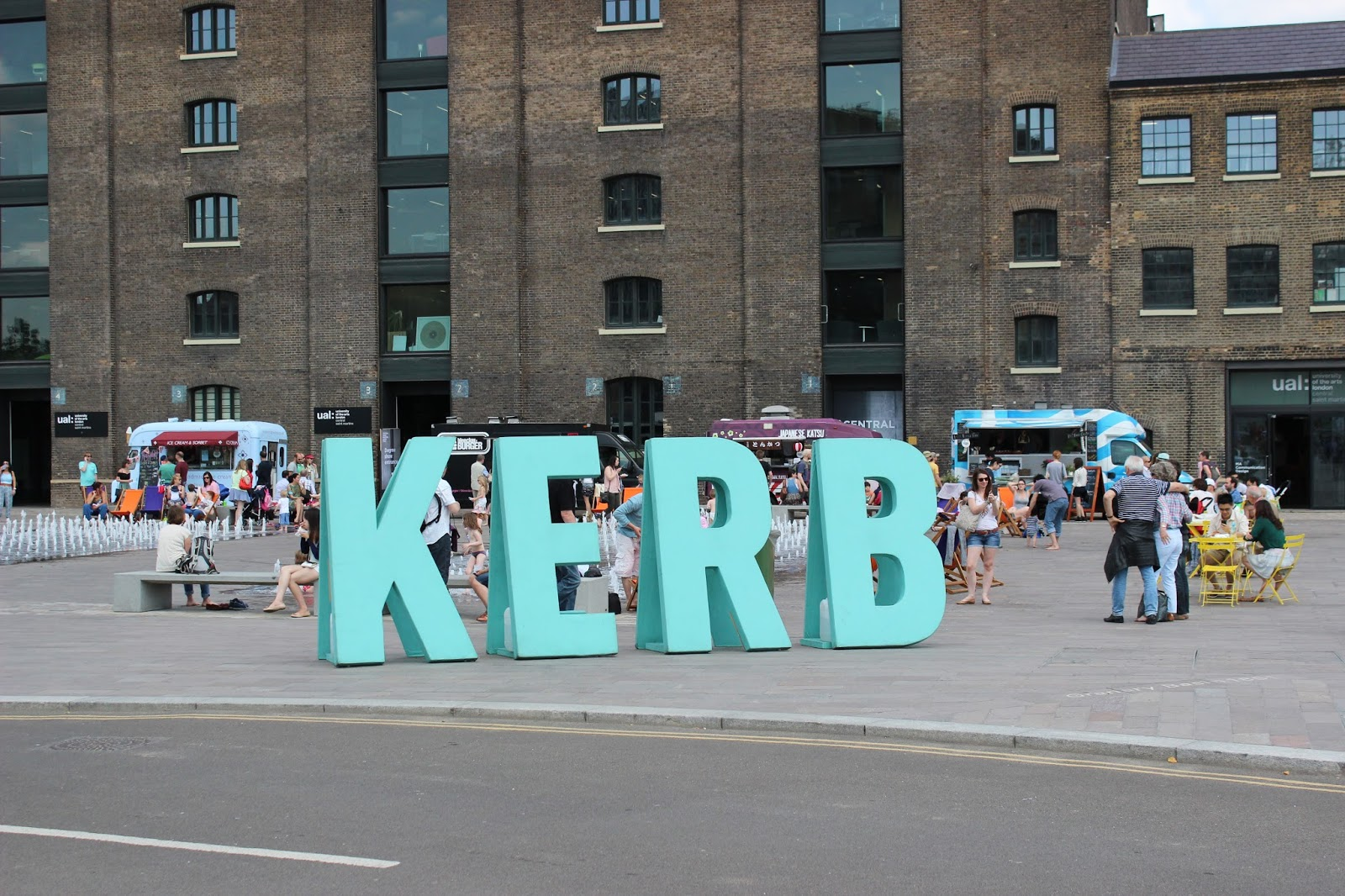 kerb food market sign