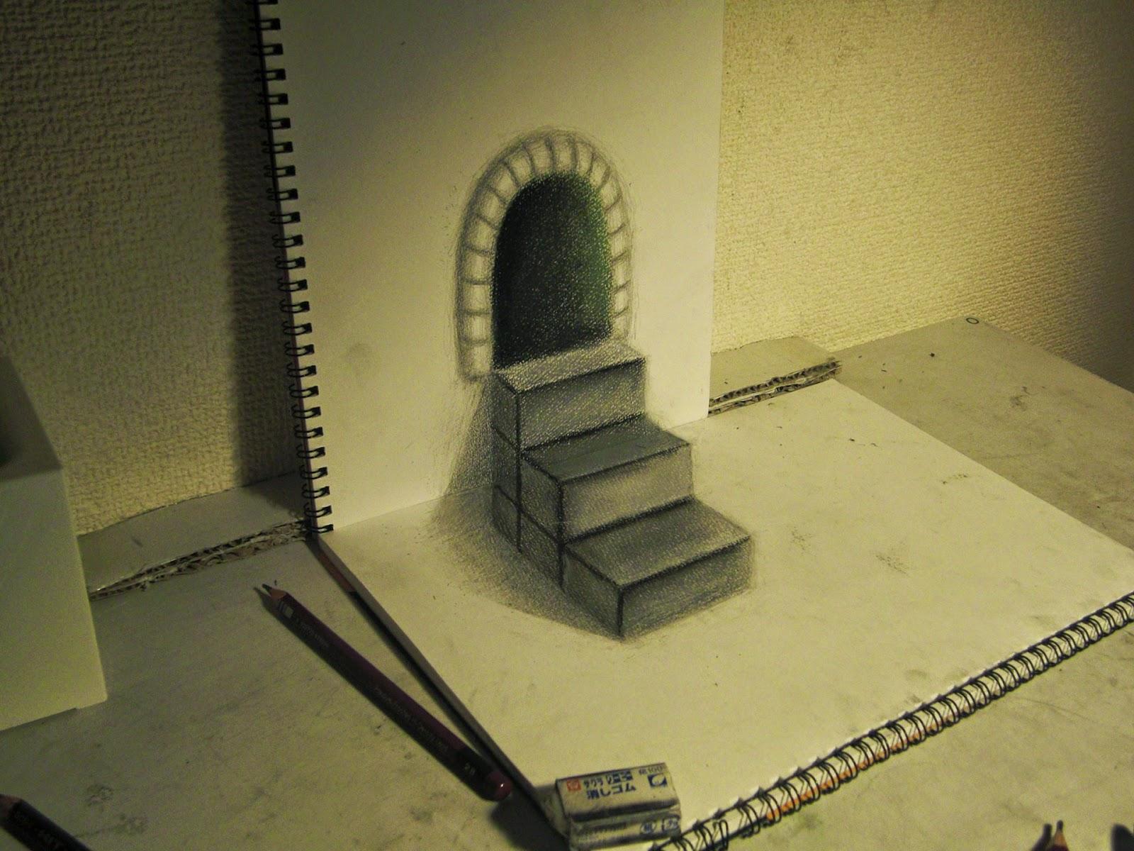 Simply Creative: 3D Drawings by Nagai Hideyuki