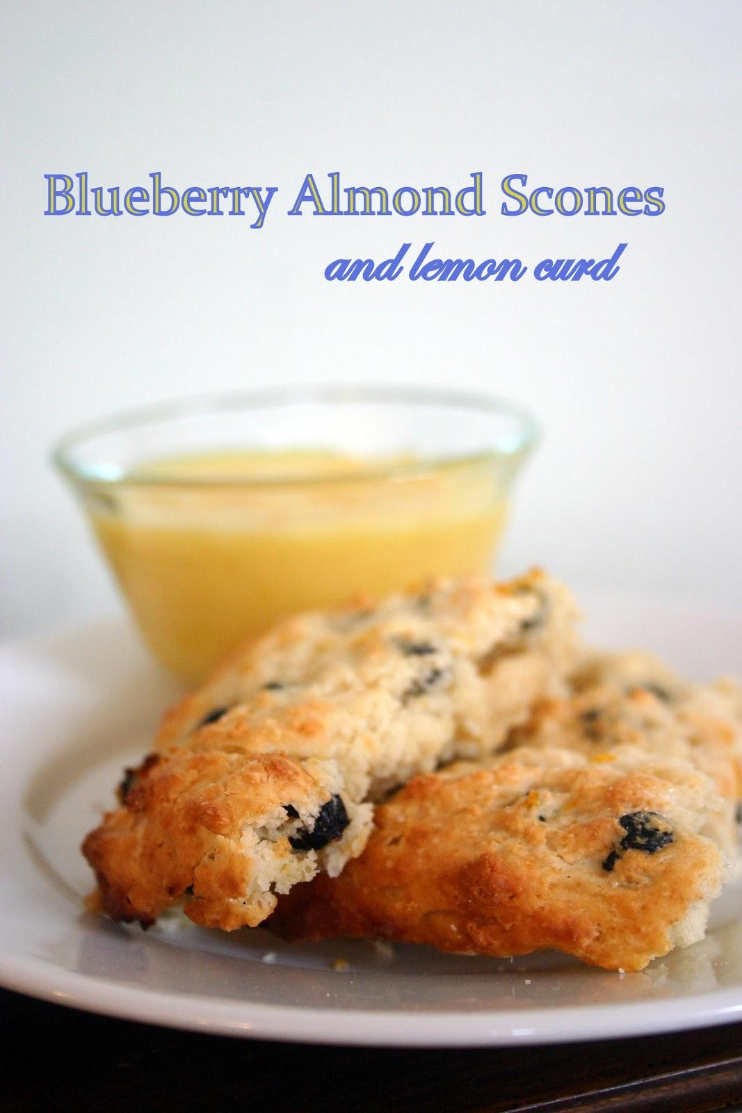 Bonne Nouvelle: Blueberry Almond Scones with Lemon Curd