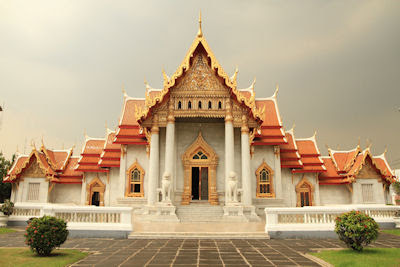 Templo Marble en Wat Benchamabophit Bangkok Tailandia