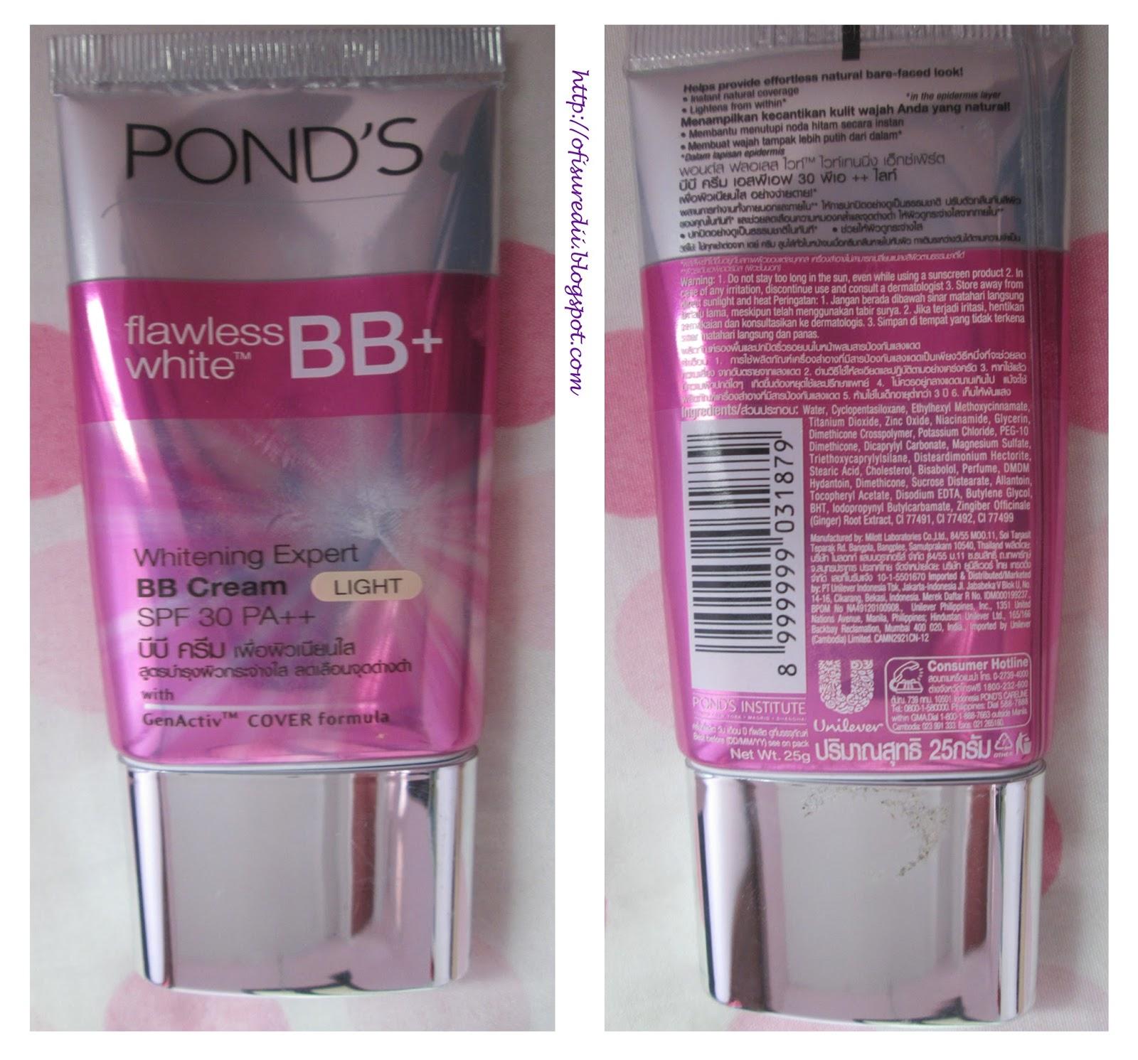 Dari segi packaging menurutku gak kalah lah sama bb cream korea apalagi warnanya pink gitu pasti banyak cewek yang tergoda p Entah kenapa si ponds ini
