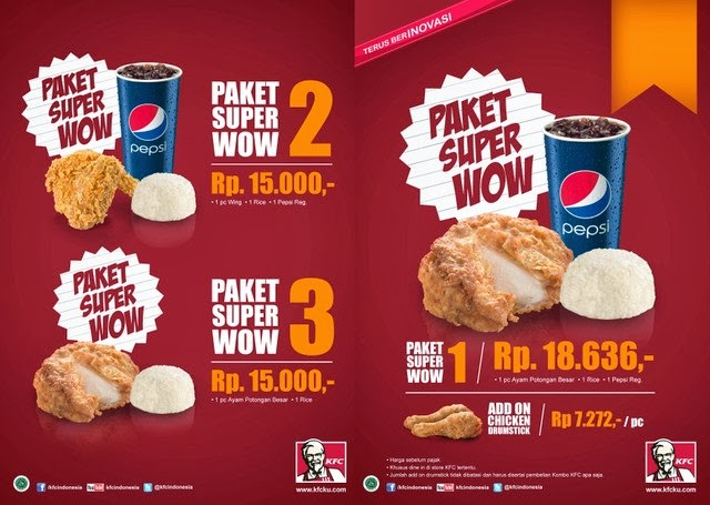 menu dan harga paket kfc super wow terbaru 2014 daftar harga menu delivery terbaru. Black Bedroom Furniture Sets. Home Design Ideas