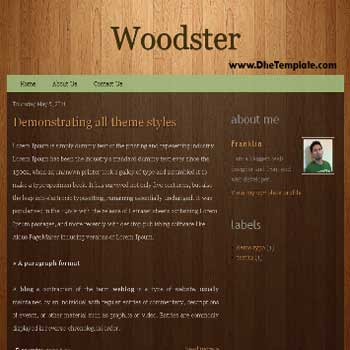 Woodster blogger template.