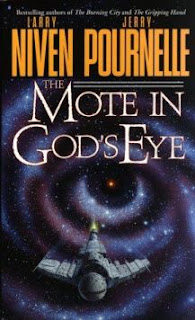 Cover image of the novel The Mote in Gods Eye by Larry Niven and Jerry Pournelle.