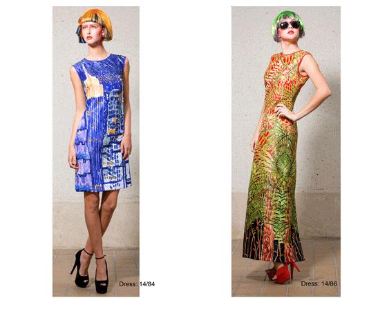 print, υφάσματα, μόδα, πράσινα μαλλιά, zandra rhodes, ζαντρα ρόουντς, Βρετανοί σχεδιαστές μόδας