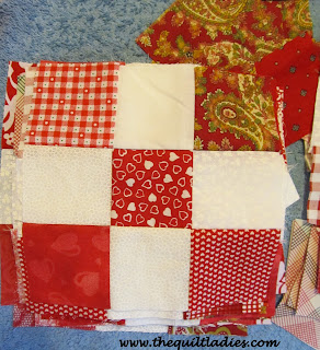 Making a Red and White Quilt for myself