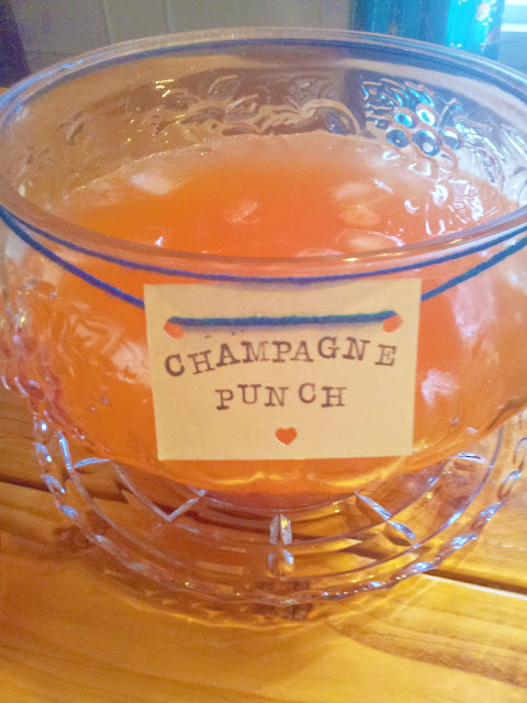 A Simple Country Style Cocktail Party: A Vintage Punch Bowl for Champagne Punch