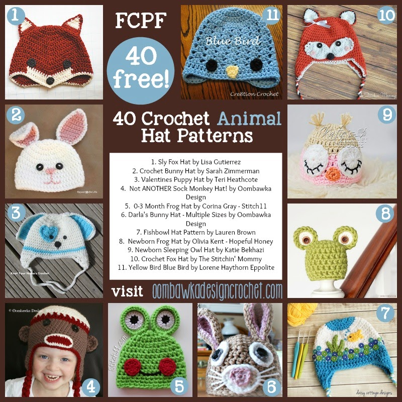 40 Fabulous & Free Crochet Animal Hat Patterns