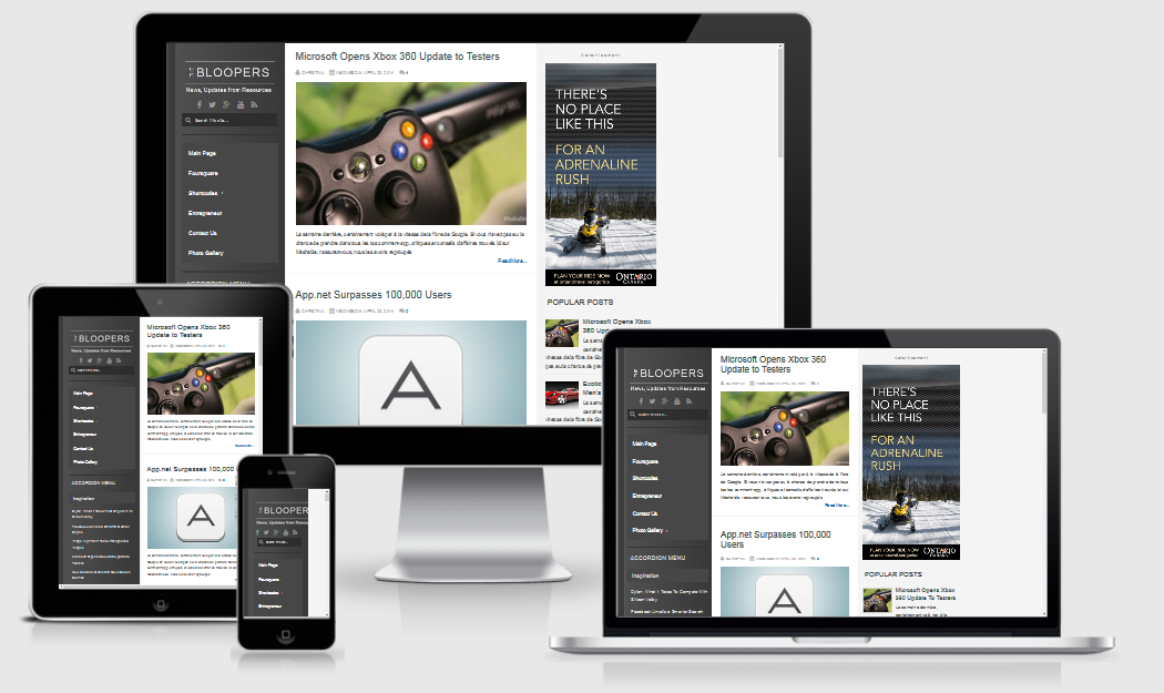 The Bloopers Responsive Blogger Template