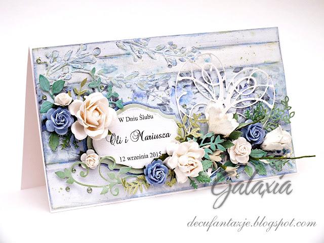 Mediowa kartka ślubna