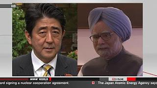 Shizo Abe and Manmohan Singh
