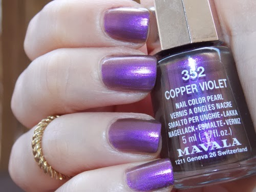 mavala copper violet swatch, vernis mavala copper violet, mavala polish copper violet, blog vernis facile