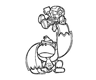 #8 Donkey Kong Coloring Page
