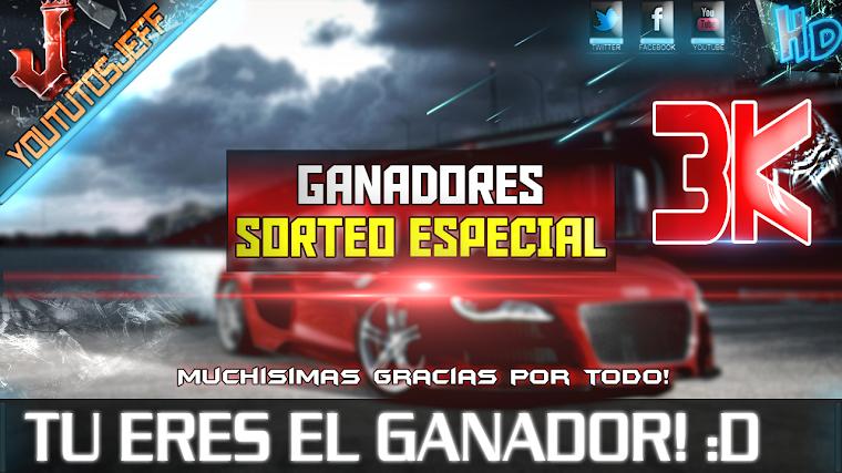 GANADORES DEL SORTEO ESPECIAL 3.000 SUSCRIPTORES | 2015