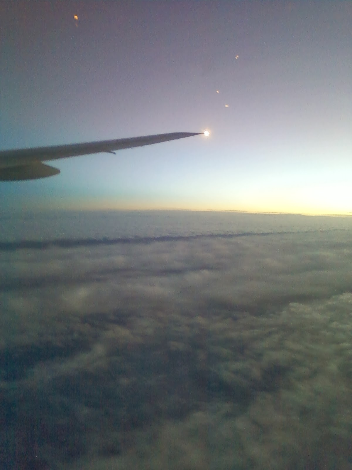 Sunset over the Atlantic - I would end up flying to the UK knowing
