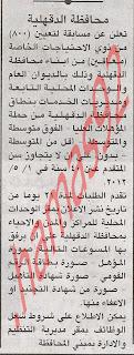 وظائف محافظة الدقهلية