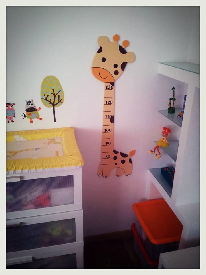 Con lluvia y con sol medidor infantil de madera jirafita - Medidor infantil madera ...
