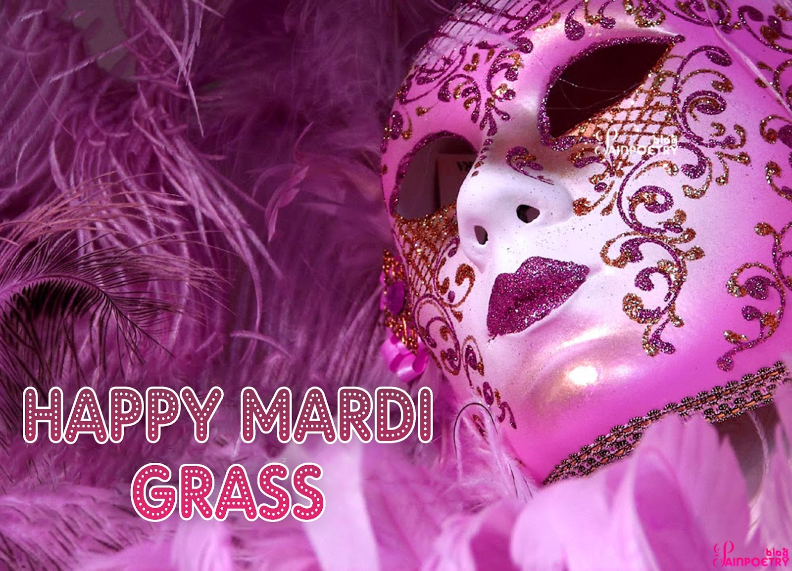 Happy-Mardi-Gras-Wishes-eCard-Image-Photo-Wallpaper-Venetian-Carnival-Mask-Wide
