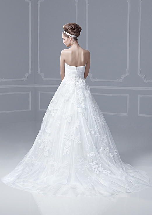 Lace Tulle Strapless Mermaid Wedding Dress
