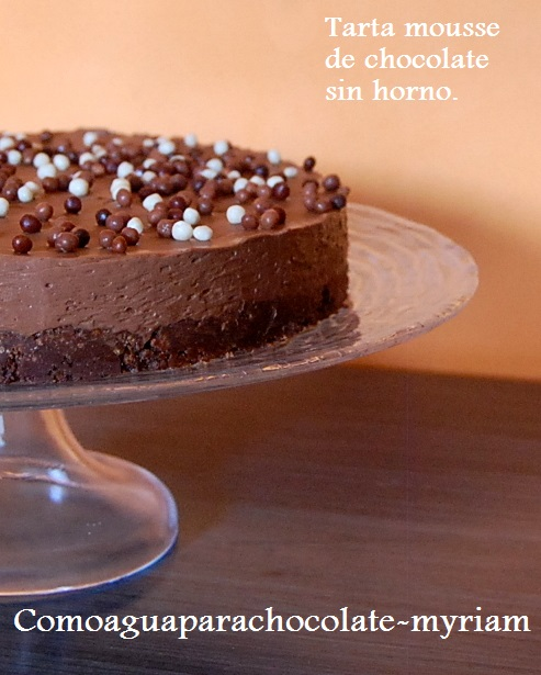 TARTA MOUSSE DE CHOCOLATE SIN HORNO
