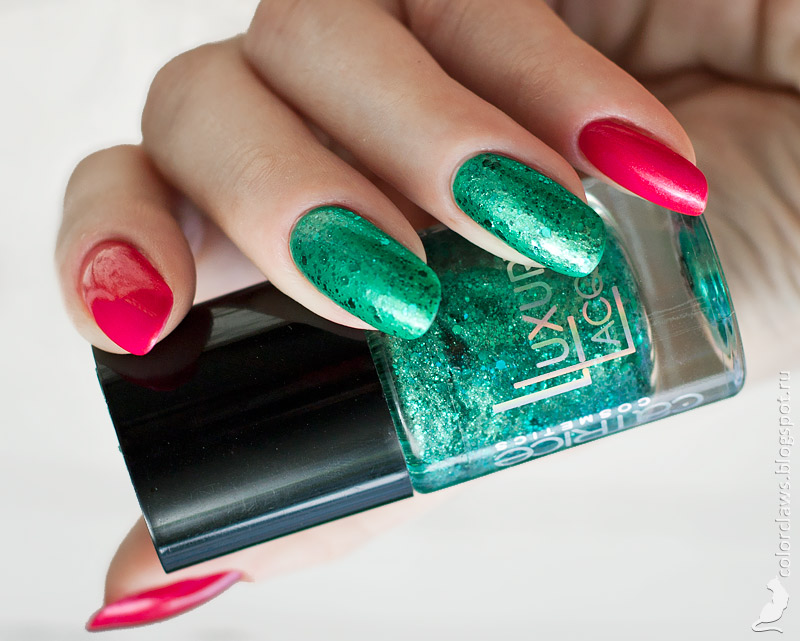Orly Total Knockout, Flormar Supershine #50 + Catrice Luxury Lacquers Glitterama