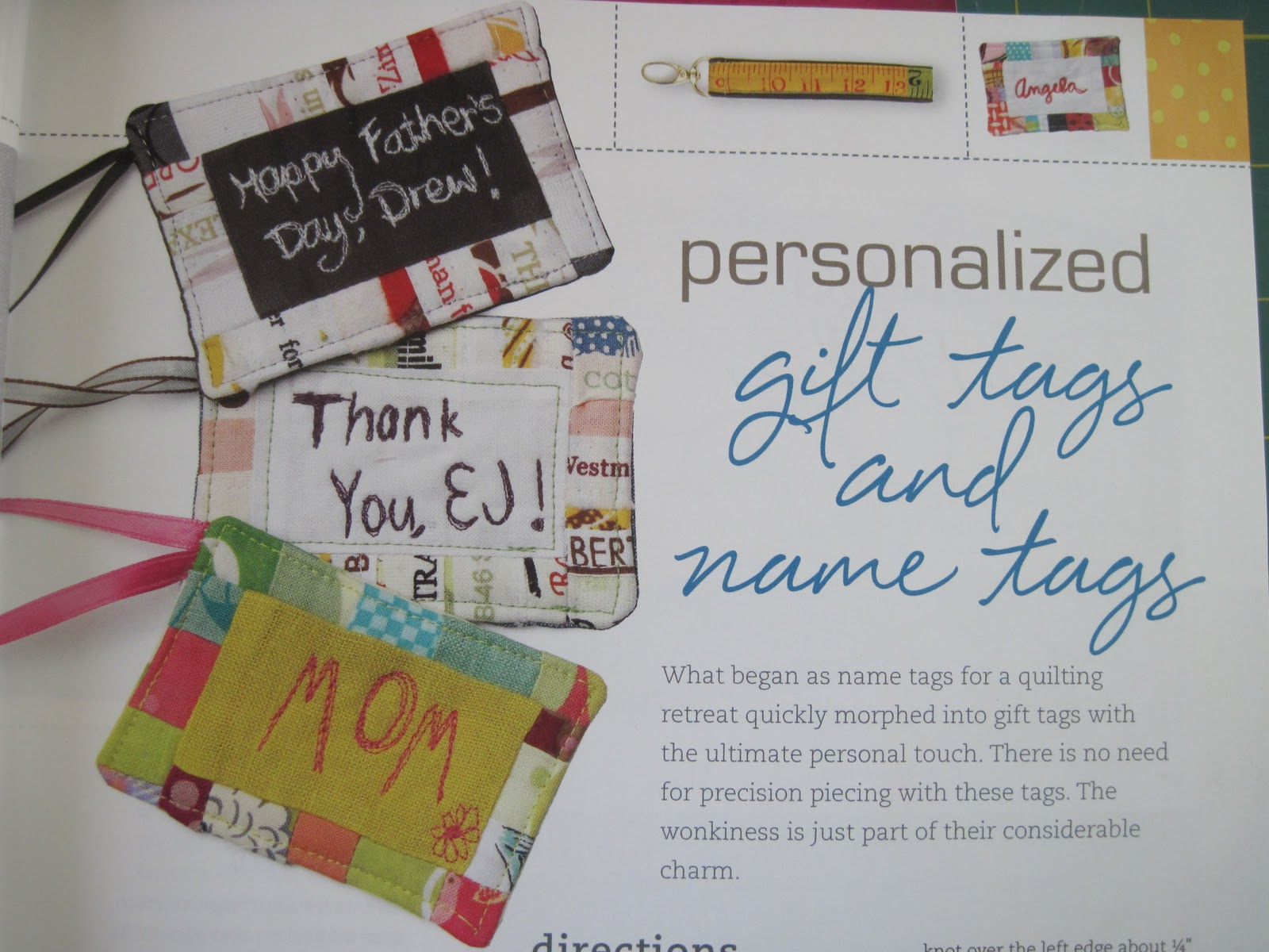 Name tag craft ideas - 101 Patchwork Projects And Quilts