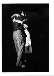 Con Silvana Grill en la obra Tango Zero de Martin Maria Blau en la Literatuhaus de Hamburgo.