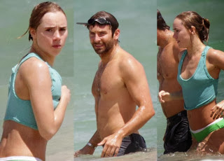 Bradley Cooper girlfriend, Suki Waterhouse wears a Blue Bikini at Hawaii
