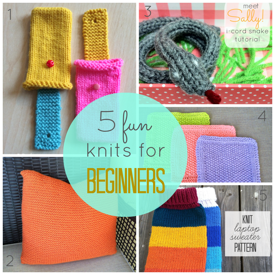 knitting projects for beginners