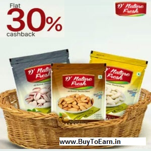 Paytm : Buy D'nature Fresh And Get 50% cashback – BuyToEarn