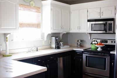 Black Bottom And White Top Kitchen Cabinets one color or two? - home depot center