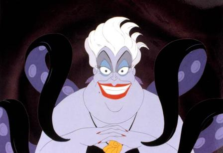 Ursula in The Little Mermaid 1989 disneyjuniorblog.blogspot.com