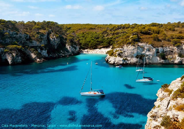 Beaches of south Menorca, Balearic Islands, Spain