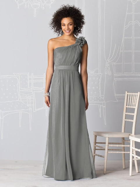 Gray One Shoulder Chiffon Beaded Prom Dress With Cascading Ruffle Find your favorite dress and place an reasonarchivessx.cf then send that dress's info to our tailors. Our dress makers will begin tailoring your gown according to the specifications in your order.