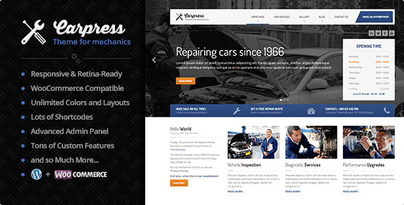 Carpress WordPress Theme Free Download