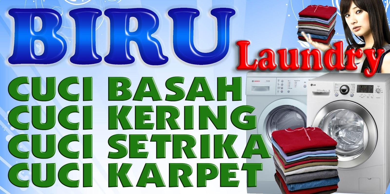 spanduk laundry  u0026 isi ulang air kediri