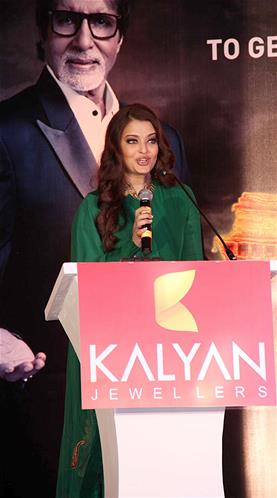 Aishwarya Rai at Kalyan Jewellers' press conference