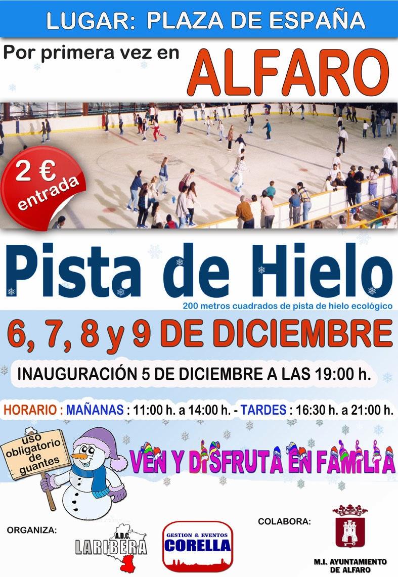 Por primera vez, pista de hielo en Alfaro en pleno centro de la ciudad