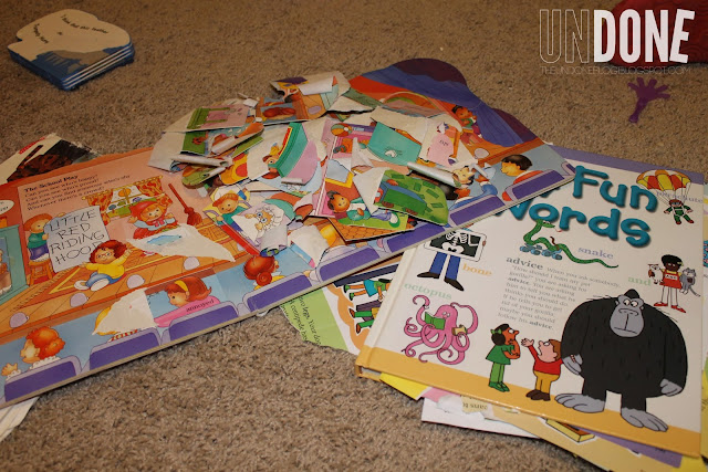 {The UNDONE Blog} Terrible Twos - ripped books