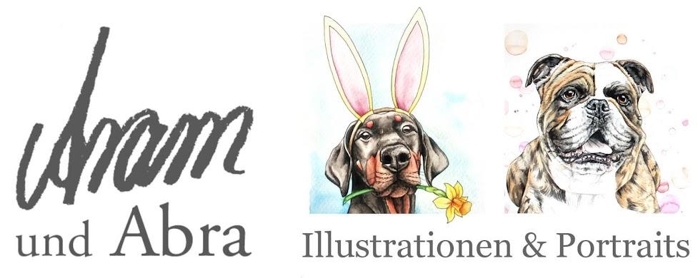 Aram und Abra - Illustrationen und Portraits | Zeichnungen und Hund
