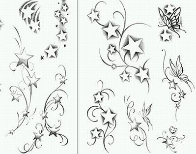 Banco de Imagenes y fotos gratis Tatoos y Tatuajes de Estrellas
