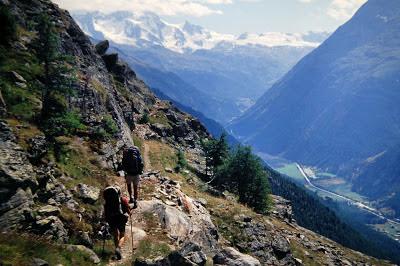 Durante la ruta del Mont Blanc