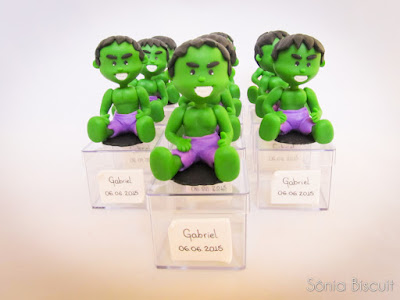 Herois DC Marvel Thor Hulk Mulher Maravilha Biscuit Lembrancinha