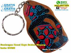 Gantungan Kunci Kayu Sablon Wayang