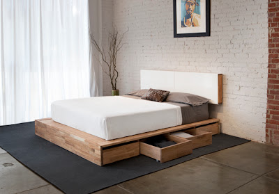 bed with drawers underneath for storage
