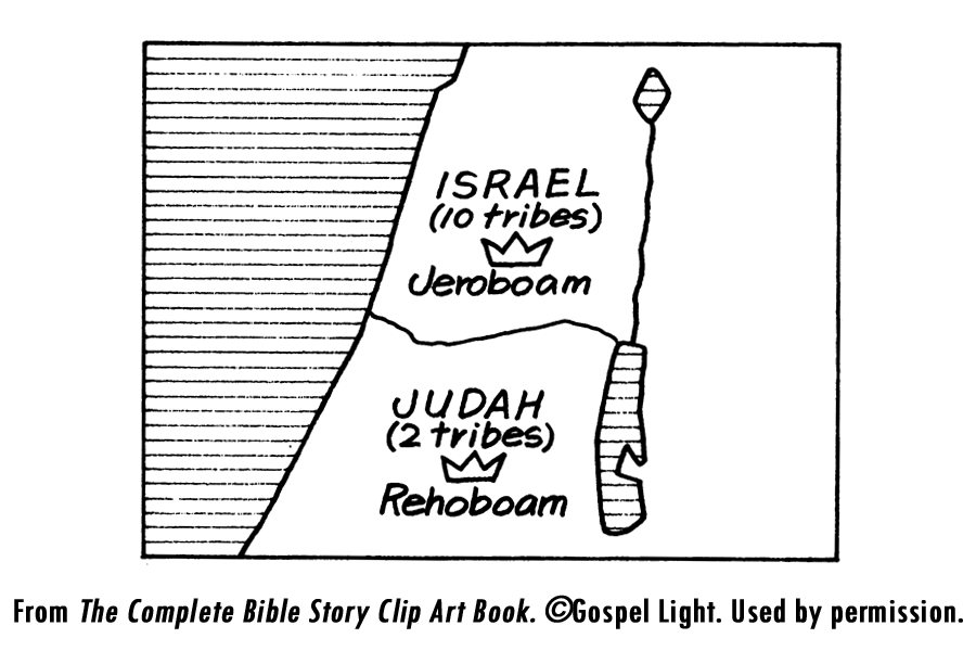 Rehoboam And Jeroboam Coloring Pages