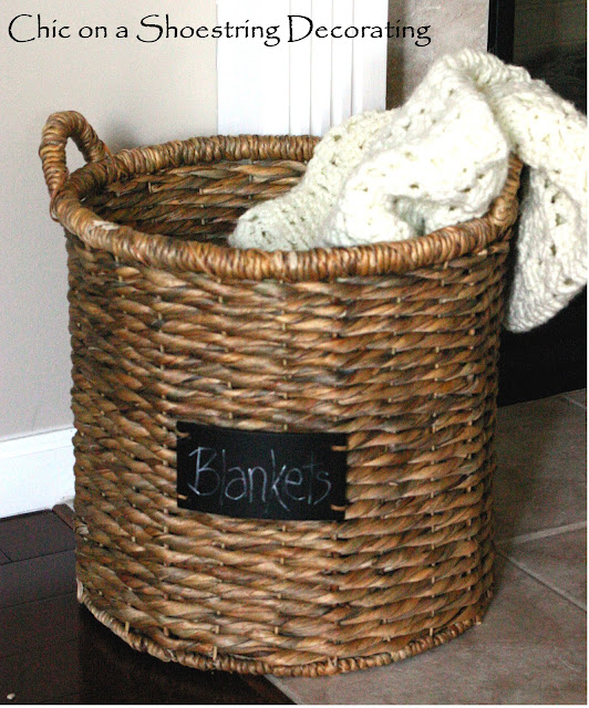 basket with chalkboard