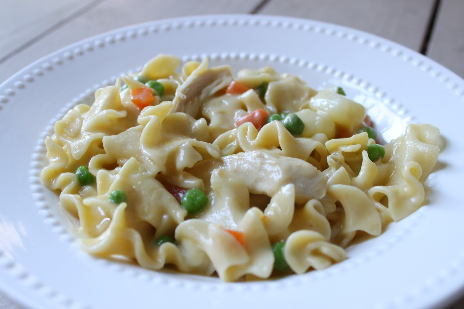 girls in aprons: creamy chicken noodle soup (lion house recipe)
