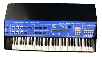 El sintetizador alemán por 'wavetable synthesis' PPG Wave 2 creado por el ingeniero Wolfgang Palm